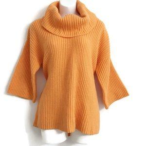 New York & Company Orange Chunky Sweater L0233